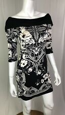 White House Black Market Womens XS Floral Cowl Tunic Bodycon Stretchy WHBM Dress