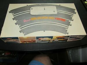 """(6) Used 1965 Revell 1/32 Scale Slot Car 14"""" Radius Curve Track Sections in Box"""