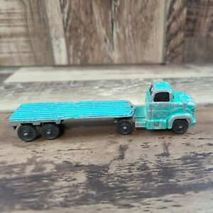 """Vintage Tootsietoy Ford Bullnose Tractor Trailer w/ Matching Flatbed, 4.5"""" Long"""