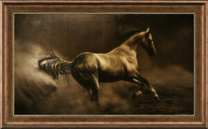 "Original Animals Oil painting art runing horse on Canvas 30""x50"""