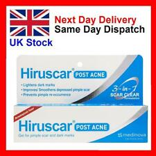 HIRUSCAR 3in1 POST ACNE GEL Scars Remover Prevent Pimple Marks Large 10g UK Fast