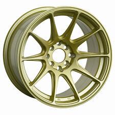 XXR 527 17X9.75 Rims 4x100/114.3 +25 Gold Wheels Aggressive Fits 4 Lug 240sx