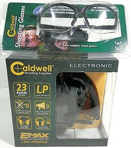 Caldwell E-Max Electronic Hearing Protection Low-Profile Ear Muffs Combo