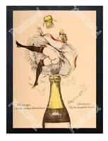 Historic Champagne - Bottle 1901 Advertising Postcard