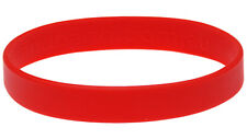 Red Silicone Wristband Rubber Bracelet Elastic Blank Bangle by Handband