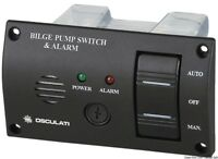 Bilge Pump Control Panel Switch 12V With Audible Alarm - Auto Off Manual  BPCPS2