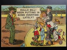 E.Chandler: Comic Postcard FATHER Theme BEEN PUTTING IN SOME OVERTIME?.. c1908