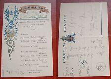CARTOLINA 36° REGGIMENTO FANTERIA - PROGRAMMA MUSICALE - 1913 #3#