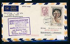 95491) LH FF Hannover - Kopenhagen 1.4.71, Brief ab CSSR