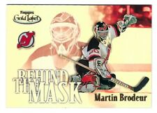 2001/02 TOPPS GOLD LABEL HOCKEY  BEHIND THE MASK Martin Brodeur  BTM4