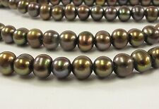 8.5-10 mm Large Hole Potato Pearl Beads in Brown OR Peach Color, 2mm Hole (#322)