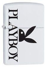 Zippo Playboy Peekin Bunny Zippo Lighter White Matte 29579