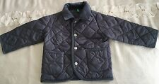 Baby Boys Benetton Quilted Jacket Size 9-12 Months