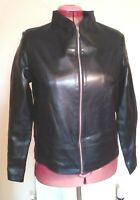 DEFINITIONS BLACK Faux LEATHER PU Vegan JACKET M uk14eu40us10 Chest c40in c102cm