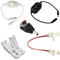 DC Connector Clip/Cable & Brightness Dimmer for 12V Single Color LED Strip Light