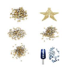300x 3d Metal Alloy Gold Heart Star Nail Art Decorations DIY V5C5 G6L4 U2B8 S6L6