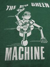 "Vtg 70's MSU SPARTY Michigan State Spartans ""Big Green Machine"" USA T-Shirt L"