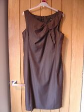 Next Brown Lined Dress Size 14 (Ref K) Ex Con