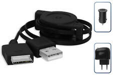 3in1 Kit Cargador/Sync (Coche+RED) para Sony Walkman NW/NWZ-X1061, X1061FBSMP