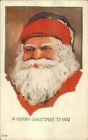 Christmas - Santa Claus Face 427B Mailed Dec 22 1924 Postcard