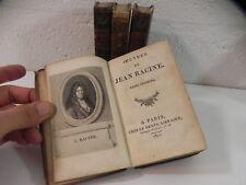Oeuvres de Jean RACINE 4/4 Dentu 1813 Gravures Choquet Delignon