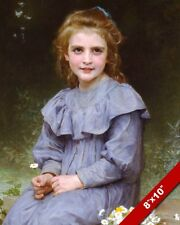 PRETTY YOUNG GIRL HOLDING A DAISY OIL PAINTING ART REAL CANVAS GICLEEPRINT