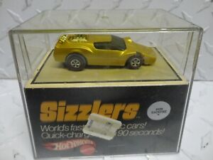Hot Wheels Original Sizzlers Gold Backfire w/Redlines in Cube