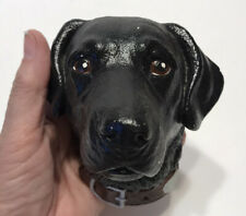 Vintage Black Labrador Dog 3D Chalkware Head Wall Figurine -Bosson's?