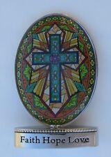 f Faith hope love cross COLORS OF FAITH miniature figurine Ganz