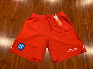 2018-19 Kappa Men's S.S.C. Napoli Soccer Home Jersey Shorts Large L