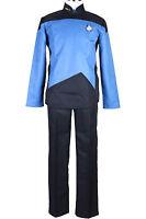 Star Trek TNG The Next Generation Blue Uniform Set Halloween Cosplay Costume