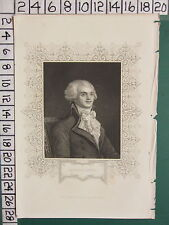 c1830 ANTIQUE PRINT ~ ROBESPIERRE ~