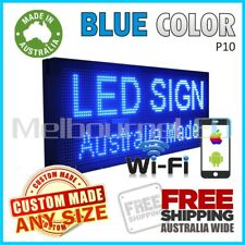 LED SIGN Blue WiFi Control Programmable Message Window Display Board 670 x 350