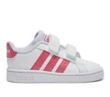 Scarpe Baby Neonata Adidas Grand Court Sneaker Bianca Rosa Primi Passi Sportiva