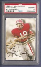 Hines Ward Steelers 1998 Skybox Premium Autographics  Rookie Card  PSA 10