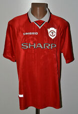 MANCHESTER UNITED 1998/1999 CHAMPIONS LEAGUE HOME FOOTBALL SHIRT JERSEY UMBRO