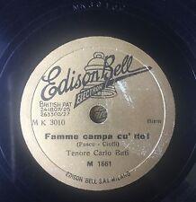 """RARE 78RPM 10"""" EDISON BELL GOLD CARLO BUTI FAMME CAMPA CU' TTE/ADDUORMETE CU MME"""