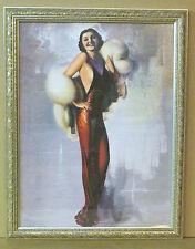 Nostalgic Armstrong Roaring 20's Star Female Portrait Painting Print Frame Art