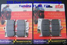 2x SBS 634 DC Racing Bremsbeläge Yamaha R6, RJ11, RJ15, brake pads, Dual Carbon