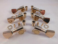 GOLD MACHINE HEADS 3 a-side TULIP TUNERS for Gibson Style electric guitars