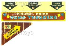 FISHER-PRICE DUMP TRUCKERS REPLACEMENT LITHOS (Stickers) Little People #979