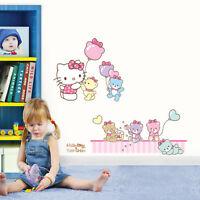 HELLO KITTY & TINY CHUM Removable Wall Decor Art Sticker GIRL KIDS NURSERY