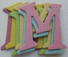 "165 Pc  ~*GLiTTER DUST SPARKLEY~* Embellishment Chipboard Alphabet Letters 1.5"""