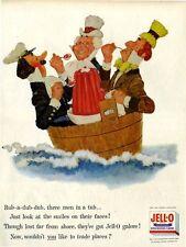 1955 Jello PRINT AD Jell-O Rub-a-dub-dub Children's Vintage Nursery Rhyme Series
