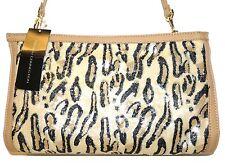 FRENCH CONNECTION Animal Mania Beige Leopard Sequin Handbag purse Clutch NWT
