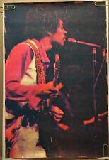 Jimi Hendrix Vintage Blacklight Poster Psychedelic Dotted 1970 Pin-up Ephemera