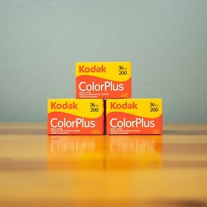 3 Rolls Kodak ColorPlus 200 36 Exposure Color Negative 35mm Film