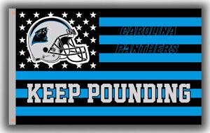 Carolina Panthers Keep Pounding Memorable flag 90x150cm 3x5ft Football banner