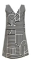 NEW, VICTORIA BECKHAM BLACK/WHITE PRINT DRESS, 2 US, $1150