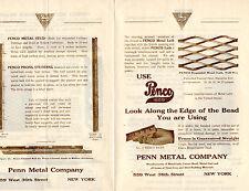 Penn Metal PENCO 1920's Advertising Brochure LATH Corner Bead BUILDING Stud NY